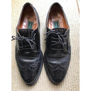 コールハーン(Cole Haan)のコールハーン COLE HAAN ウイングチップ 革靴 黒 26cm(ドレス/ビジネス)