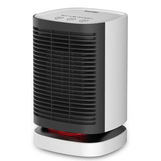 セラミックファンヒーター 首振り 温風&送風切り替え 暖房器具 防災 省エネ (ファンヒーター)
