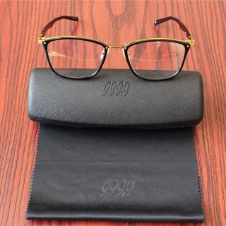 フォーナインズ999.9・M-100チタン製・高級眼鏡フレーム・ブラックゴールド(サングラス/メガネ)