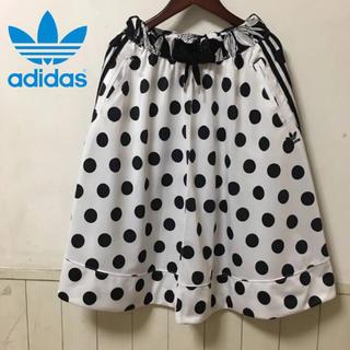 アディダス(adidas)の極美品 アディダス 水玉スカート サイズS ステューシー ロデオクラウンズ ゲス(ひざ丈スカート)