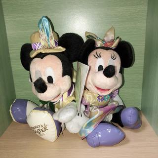 Disney - ミッキー ミニー イースター ペアぬいぐるみ