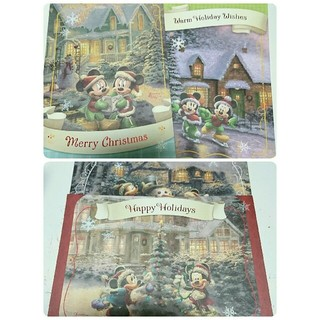 Disney - クリスマスカード  ディズニー 4種類8枚 ミッキー ミニー X'mas