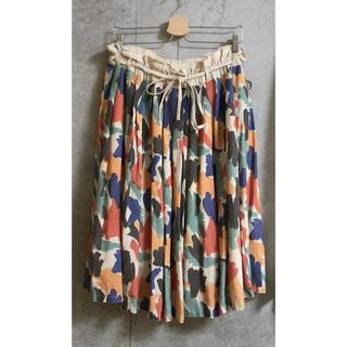 ツムグ(tumugu)のtumugu 柄スカート(ひざ丈スカート)