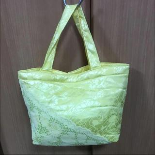 トリンプ(Triumph)の手提げ袋 黄色 布 バッグ カバン トリンプ 非売品 刺繍(ハンドバッグ)