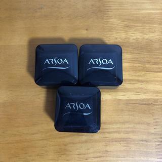 アルソア(ARSOA)のアルソア 石鹸 20g 3つセット ケース付き(洗顔料)