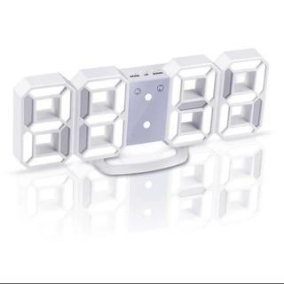 大人気★LEDデジタル時計 3Dデザイン アラーム機能付き置き時計(置時計)