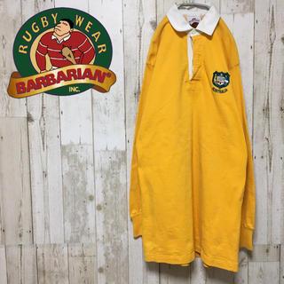バーバリアン(Barbarian)の90s 古着系 ビンテージ カナダ製 バーバリアン 超ロング丈 ラガーシャツ (ポロシャツ)