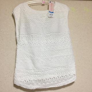 ジーユー(GU)のブラフィールレーススリーブ(Tシャツ(半袖/袖なし))