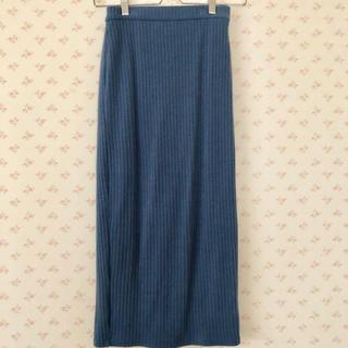 GU - GU/ロングニットリブスカート