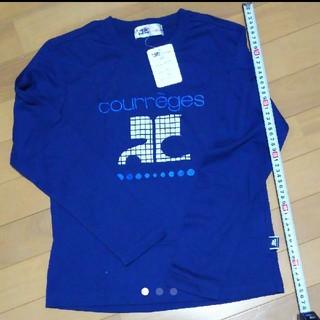 クレージュ(Courreges)の値下げ!!新品!クレージュ courreges トップス 紺色 ネイビー 白(Tシャツ/カットソー)