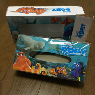 ディズニー(Disney)のファインディング ドリー ブリキティッシュ缶(ティッシュボックス)