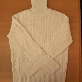無印良品 タートルネックセーター(オフホワイト)Mサイズ