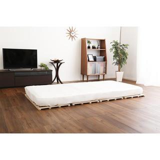 開店記念セール◆桐材を使用した4つ折りすのこベッド シングル(簡易ベッド/折りたたみベッド)