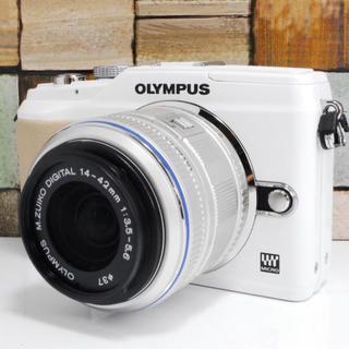 OLYMPUS - ★可愛いホワイト★OLYMPUS E-PL2 レンズセット