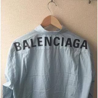 Balenciaga - 国内正規品 balenciaga 18aw バックロゴ オーバーサイズシャツ