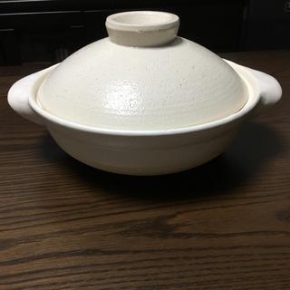 ムジルシリョウヒン(MUJI (無印良品))の無印良品 伊賀焼土鍋・白釉 2-3人用/約1.5l(鍋/フライパン)