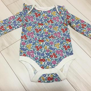 ベビーギャップ(babyGAP)の【新品】babygap 花柄ロンパース 60(ロンパース)