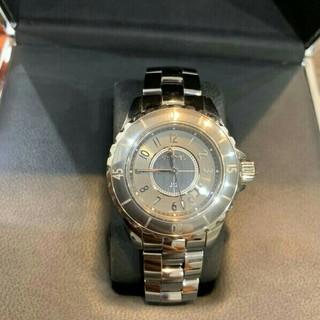 極美品j12H2978腕時計クロノマティックチタンセラミックユニセックス