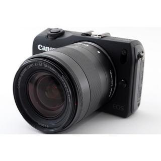 キヤノン(Canon)の★その一瞬を永遠に♪WiFi対応★キャノン EOS M ブラック レンズキット(ミラーレス一眼)