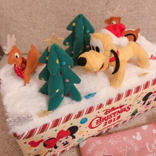 ディズニー(Disney)のディズニー クリスマス ティッシュケース(ティッシュボックス)