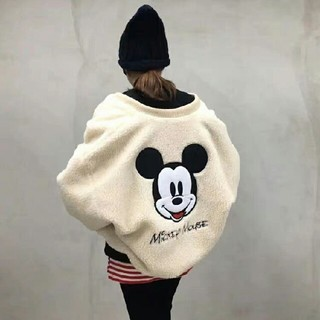 ディズニー(Disney)のディズニー ミッキー ボアブルゾン Disney mickey ジャケット(ニット/セーター)