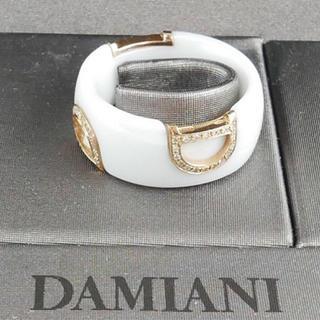 ダミアーニ(Damiani)の極美品 ダミアーニ  Dアイコン ピンクゴールド×白セラ ダイヤ リング(リング(指輪))
