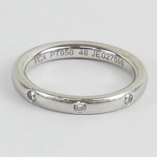 ヴァンクリーフアンドアーペル(Van Cleef & Arpels)の良品 ヴァンクリーフ&アーペル アンフィニエトワール PT950 ダイヤ リング(リング(指輪))