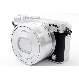 ニコン(Nikon)の☆自撮りしてその場でスマホにシェア☆ニコン J5 シルバー レンズキット(ミラーレス一眼)
