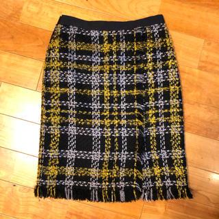 アーデム(Erdem)のmignion様専用 H&M ERDEM コラボ ツイードスカート(ひざ丈スカート)