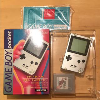 ニンテンドウ(任天堂)のゲームボーイ ポケット シルバー 任天堂(携帯用ゲーム本体)