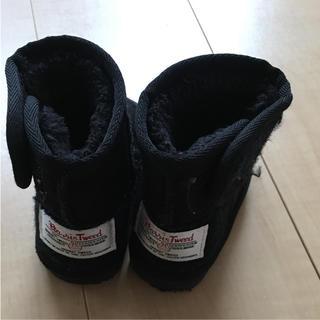 ハリスツイード(Harris Tweed)のハリスツイード  ムートンブーツ 13㎝ ブラック ベビー キッズ (ブーツ)