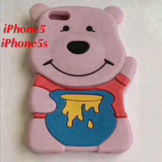 ディズニー(Disney)のiPhone5s プーさん シリコンケース シリコン樹脂 ケース カバー(iPhoneケース)