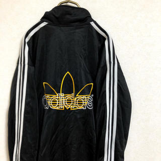 adidas - 【90s】adidas ジャージ メンズ L ブラック 古着 トレフォイルロゴ