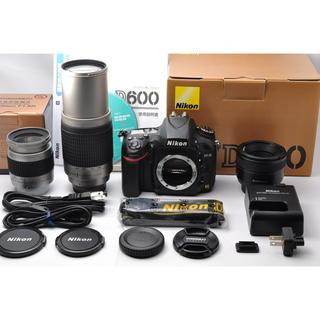 ニコン(Nikon)の❤️ニコン D600 単焦点&標準&超望遠トリプルレンズセット❤️(デジタル一眼)