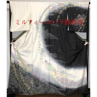 ミルフィーユバラ様専用 訪問着 作家物 落款 端布付 美品 ア9793(着物)