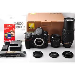 ニコン(Nikon)の❤️新品級❤️ニコン D800 標準&超望遠ダブルズームセット❤️(デジタル一眼)