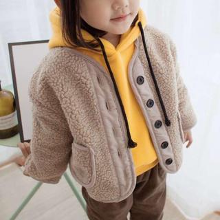【120】ちょっぴり大きめ♡ボア 裏起毛 warm アウター 子供服(ジャケット/上着)