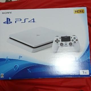 PlayStation4 - 新品未開封 PS4 1TB ハンドルクーポン付き グレイシャーホワイト