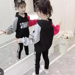KSA42 可愛い子供、 キッズトップス+ ズボン(110-150)(パンツ/スパッツ)