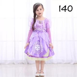 ディズニー(Disney)のソフィアドレス 小さなプリンセスソフィア 140(ドレス/フォーマル)