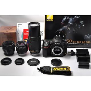 ニコン(Nikon)の❤️ショット数極小❤️ニコン D750 単焦点&標準&超望遠トリプル(デジタル一眼)
