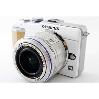オリンパス(OLYMPUS)の★Wi-Fi簡単転送★オリンパス E-PL1 ホワイト レンズ★(ミラーレス一眼)