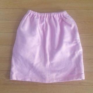 クレージュ(Courreges)のクレージュ スカート ピンク ラメ ロゴ刺繍 140(スカート)