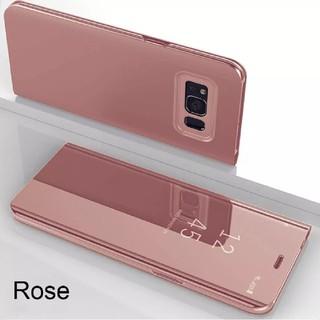 最終1個 S8+ ピンク フリップ ケース ミラー クローム galaxy(Androidケース)