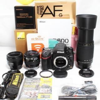 ニコン(Nikon)の★新品単焦点50mm&超望遠300mm&標準★ニコン D600 トリプル(デジタル一眼)