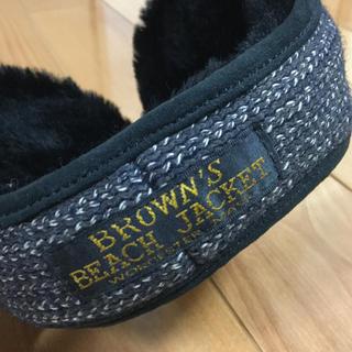 ブラウンズビーチ イヤーマフ 美品 BROWNS BEACH JACKET(イヤマフラー)