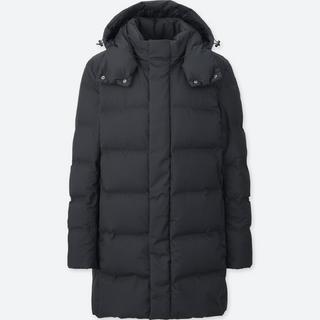 ユニクロ(UNIQLO)のユニクロ シームレスダウンコート 黒 XL(ダウンジャケット)