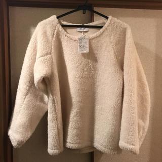 IENA - タグ付き新品☆イエナのモコモコトップスプルオーバー☆F☆ホワイト