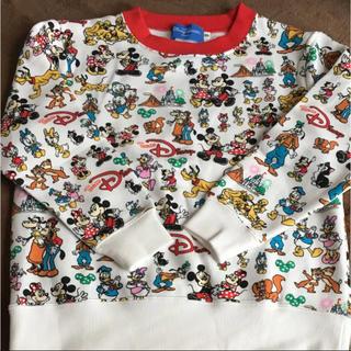 ディズニー(Disney)のTDRTDLTDS☆チームディズニー☆総柄 裏起毛 トレーナー☆120cm未使用(その他)