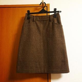 バーニーズニューヨーク(BARNEYS NEW YORK)のBARNEYS NEW YORK◎チェックウールスカート(ひざ丈スカート)